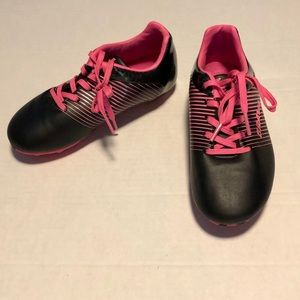 3/$15 Brava soccer cleats 13 hot pink black girls